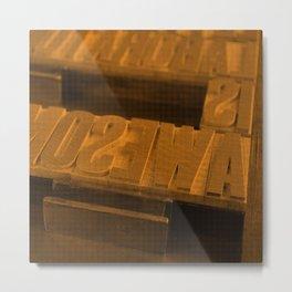 Wood Type Metal Print