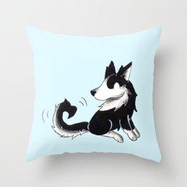 Husky Heart Throw Pillow