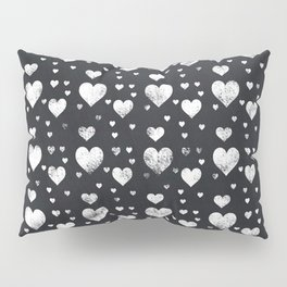 Chalkboard Hearts Pattern Pillow Sham