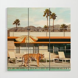 Pool Party Tiger Wood Wall Art