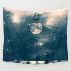 One Day I Fell from My Moon Cottage... Wall Tapestry