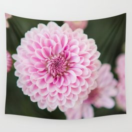 Mums in Pink Wall Tapestry