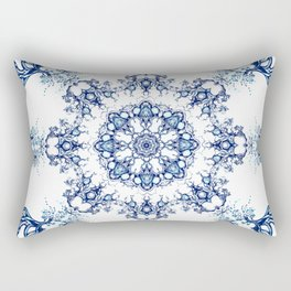 blue garden mandala Rectangular Pillow