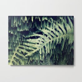 Ferns Glitches Metal Print