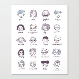 Emotions & Feelings Canvas Print