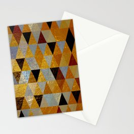 Abstract #382 Copper Foil Stationery Cards