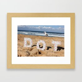 Seagull Dots Framed Art Print