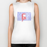 letters Biker Tanks featuring Letters by Olya Goloveshkina