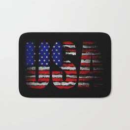Distressed USA Flag Bath Mat