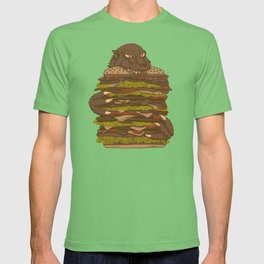 Godzilla vs Hamburger T-shirt