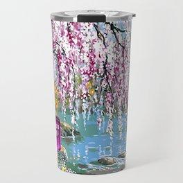 Tardis Art Cherry Blossom Travel Mug
