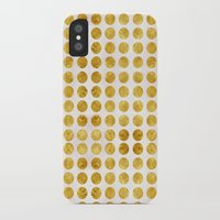 gold dots iPhone & iPod Cases featuring Gold Dots by MORE by Jamie Preston