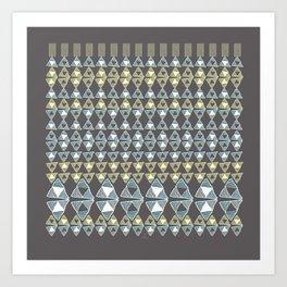 Ethnic Ornament / Canarys Curtain Art Print