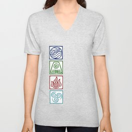 The 4 elements Unisex V-Neck
