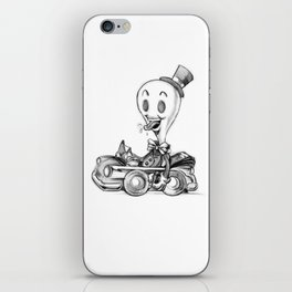 "doodle ""WHITEOUT"" iPhone Skin"