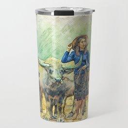 Animals Asia Buffalo Travel Mug