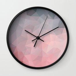 Soft geometric design Wall Clock