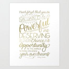 Pursue Your Dreams - Gold Art Print