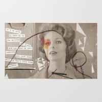 poem Area & Throw Rugs featuring LOVE POEM by MEERA LEE PATEL
