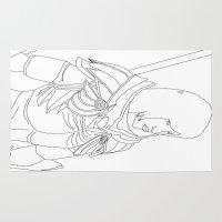 skyrim Area & Throw Rugs featuring Skyrim Armor outline by J.A.C