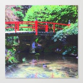 Red Bridge 2 Canvas Print