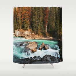 Natural Bridge Falls - Yoho, BC Shower Curtain