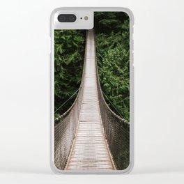 Suspension Bridge Clear iPhone Case