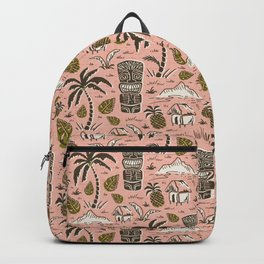 Tiki Party - Pink Backpack