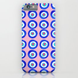 Valentine Evil Eye light pink iPhone Case