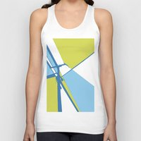 the wire Tank Tops featuring High Wire by Ryan Johnson