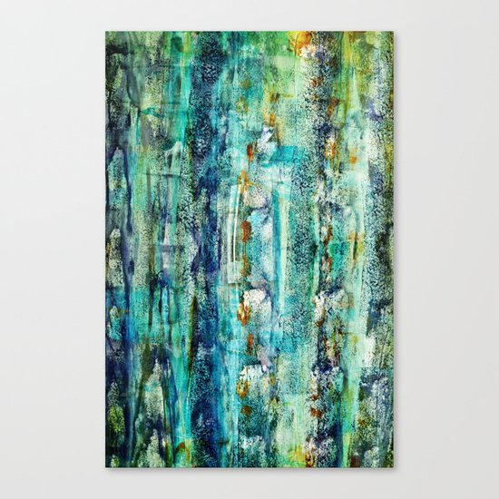 floating / blue Canvas Print