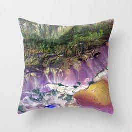 The Turpan Depression Throw Pillow
