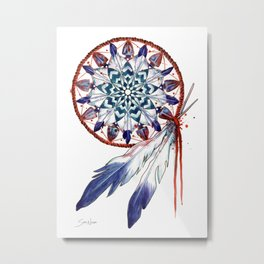 Dreamcatcher Mandala Metal Print