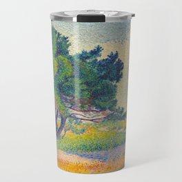 Small House at Saint Clair 1894 Henri-Edmond Cross Neo-Impressionism Pointillism Oil Painting Travel Mug