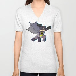 The Blocky Knight - Minecraft Avatar Unisex V-Neck