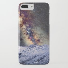 The star Antares, Scorpius and Sagitariuss over the hight mountains. The milky way. iPhone Case