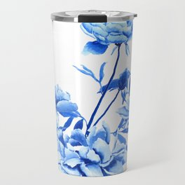 blue peonies Travel Mug