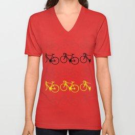 Bicycle pattern Unisex V-Neck