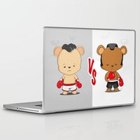 boxing Laptop & iPad Skins featuring Boxing Bears by Yolanda Yvette