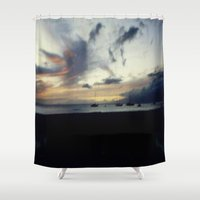 ships Shower Curtains featuring Ships In The Night by J&C Creations