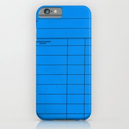 Library Card BSS 28 Blue iPhone Case