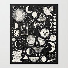 Lunar Pattern: Eclipse Canvas Print