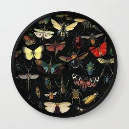 Lovely Butterfly Black Wall Clock