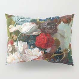 Fruit and Flowers in a Terracotta Vase by Jan van Os Pillow Sham