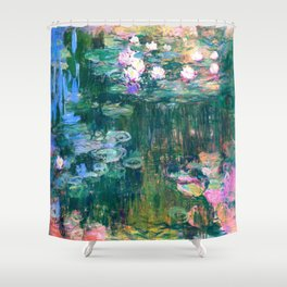water lilies : Monet Shower Curtain