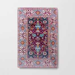 Romanian  Antique  Double Niche Carpet Print Metal Print