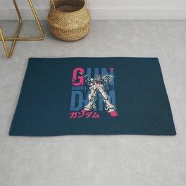 033 Gundam Fluo Blue Rug