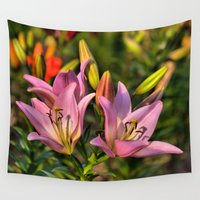 lily Wall Tapestries featuring lily by Karl-Heinz Lüpke