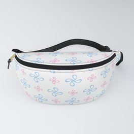geometric flower 18 blue and pink Fanny Pack