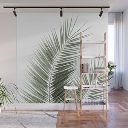 Olive Green Palm Leaves Dream - Cali Summer Vibes #1 #tropical #decor #art #society6 Wall Mural